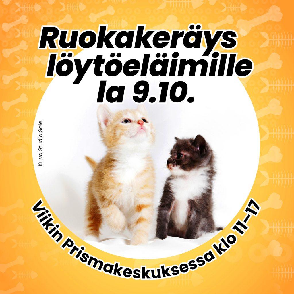 Eläinten viikon ruokakeräys Viikin Prismakeskus
